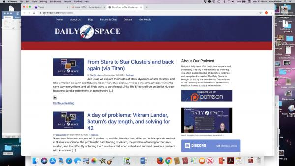 daily space podcast screen shot