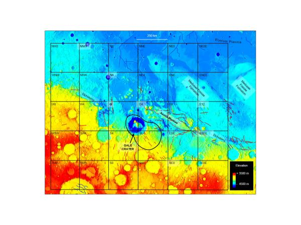 Mysterious Martian methane release map