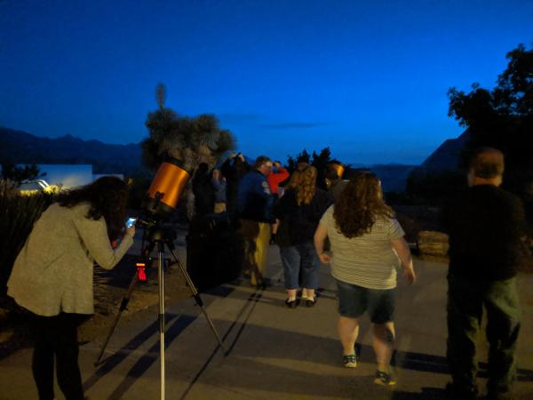 larry girl scouts observe moon