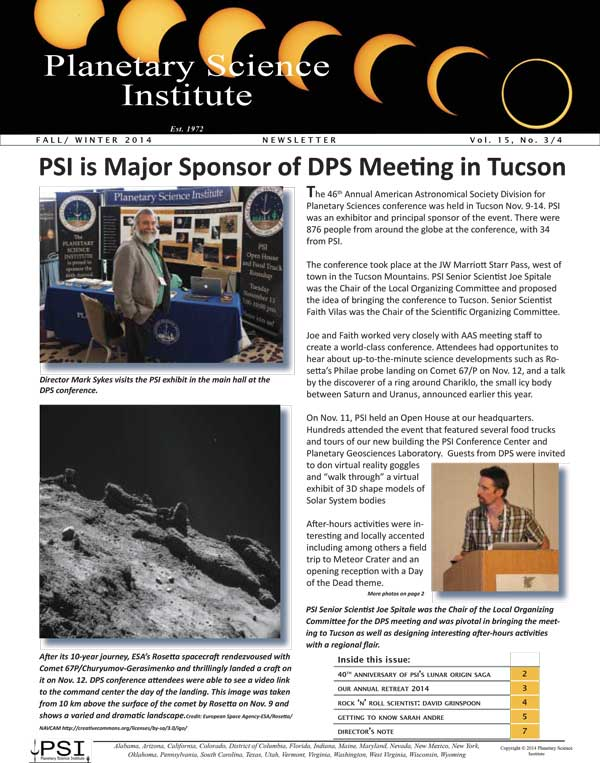 PSI Newsletter Fall-Winter 2014