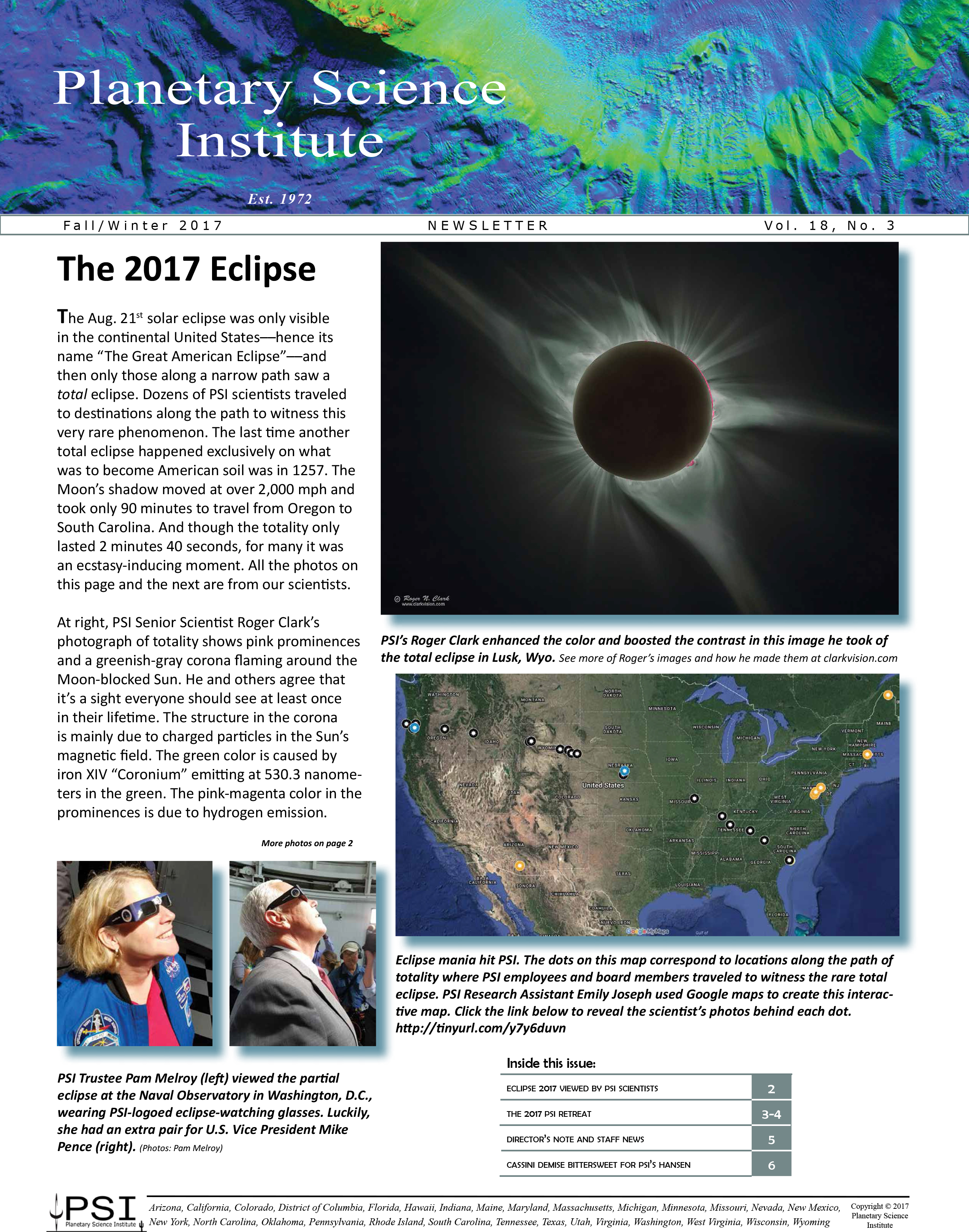 Fall-Winter 2017 PSI Newsletter