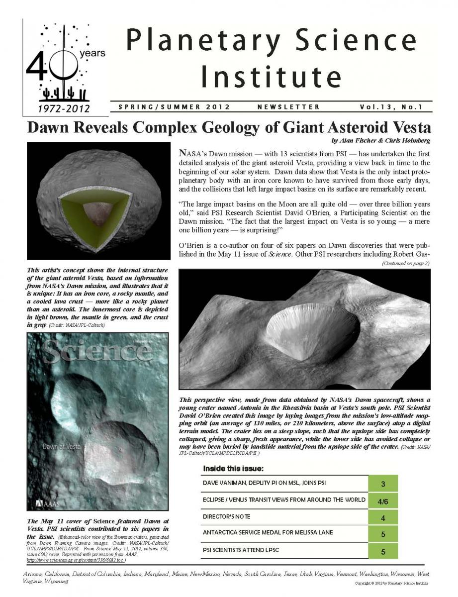 Spring-Summer 2012 Newsletter