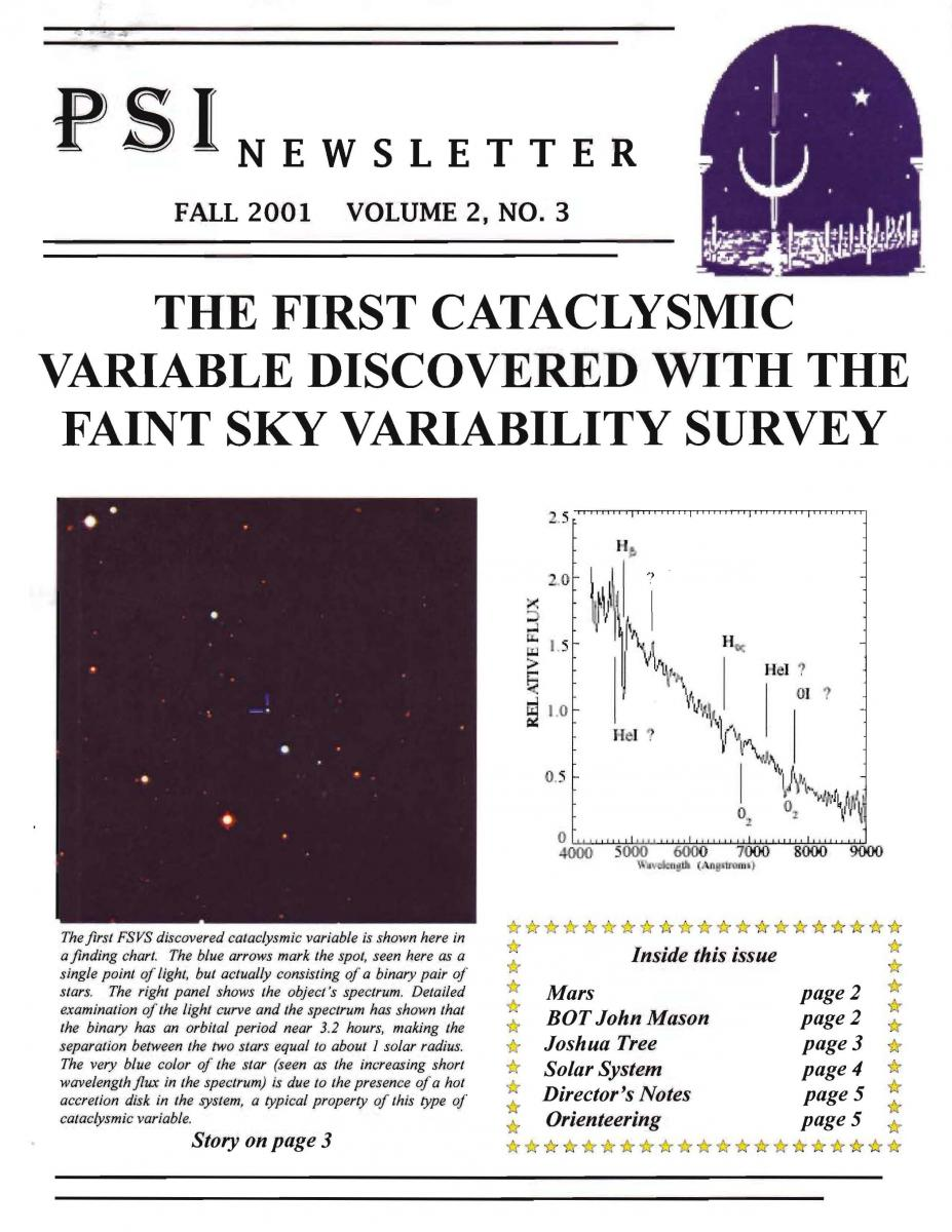 Fall 2001 Newsletter