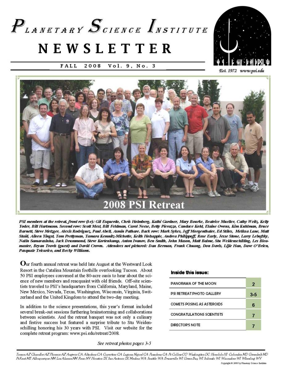 Fall 2008 Newsletter